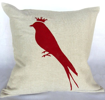 royal bird pillow