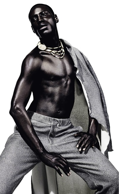 Tafari Hinds by Daniel Sannwald for Re-Bel magazine #4,  F/W 2011.  Styled by Rasharn Agyemang.