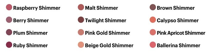 BB High Shimmer Lip Color_Range2