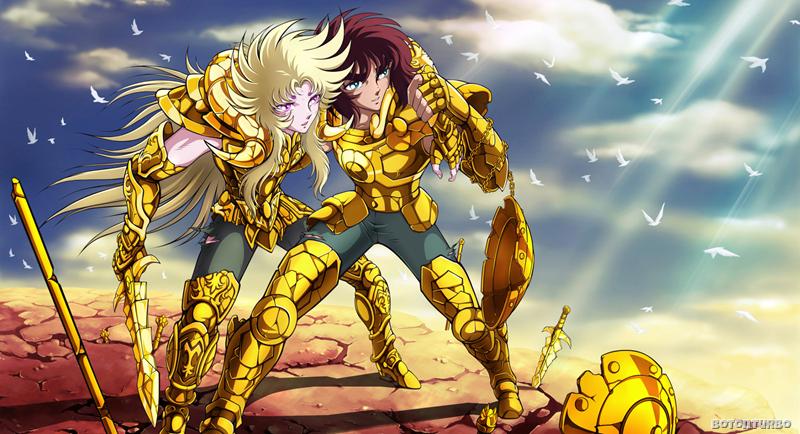 Shion y Dohko, en el final de la guerra contra Hades