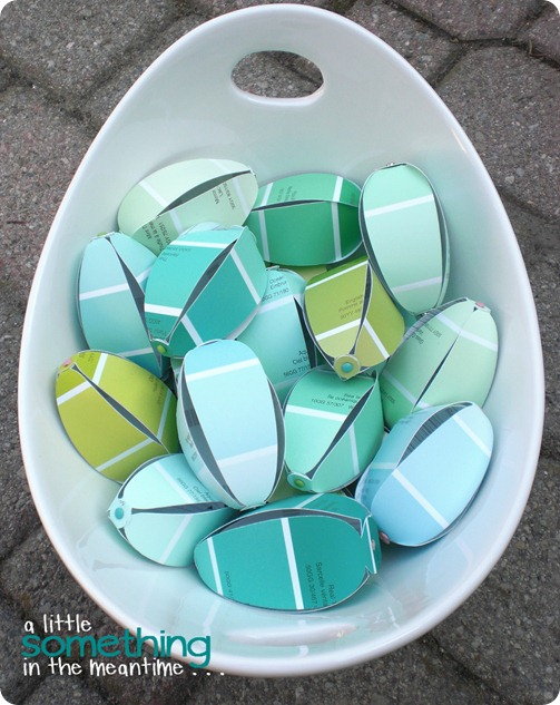 Paint Chip Easter Eggs in Bowl WM