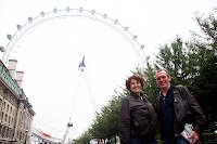 Tom and Colette in front of the London Eye