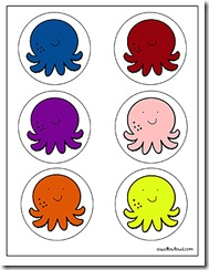 octopus color sort - Color For Toddlers