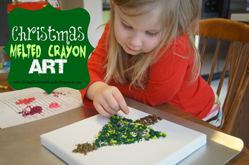 Christmas Crayon art