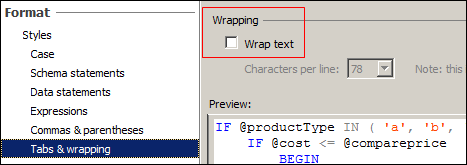 WrapText Option