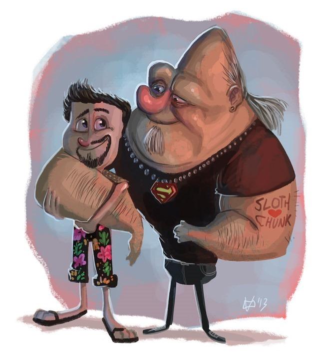 Chunk & Sloth 28 Years Later