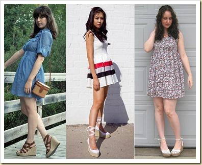 espadrilhas com vestido