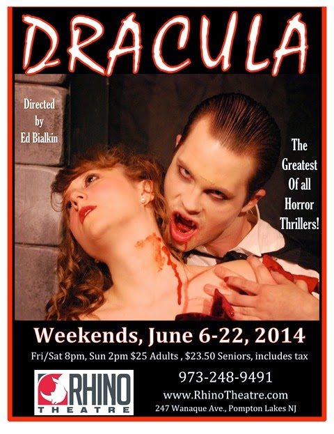 Dracula Poster photo with blood