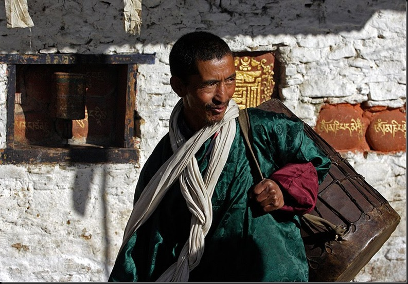 Tsechu Drummer In Bhutan
