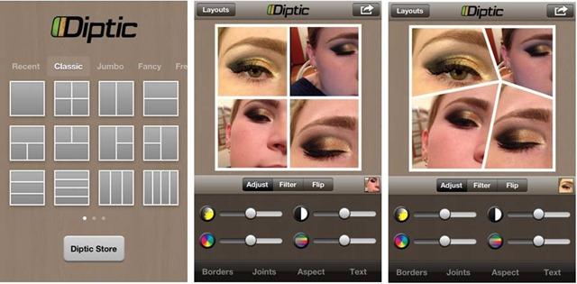 melhores app fotografia android diptic