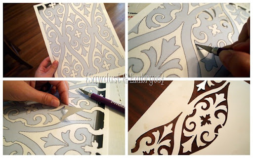 Making Your Own Stencil {Sawdust And Embryos}