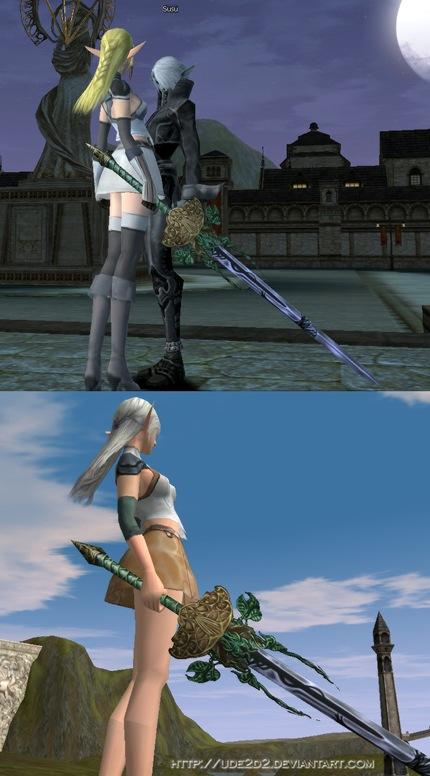 Espada élfica de Akira en Lirein, Lineage II