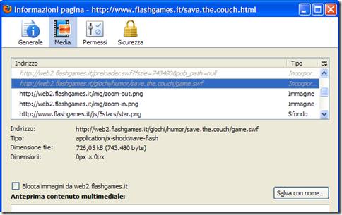 Informazioni pagina - Media - Firefox