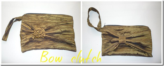 Bow clutch collage