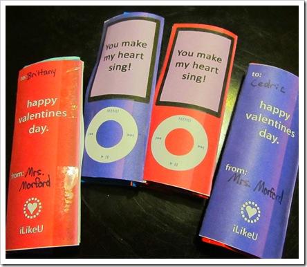 Fun-Dip IPod Valentines