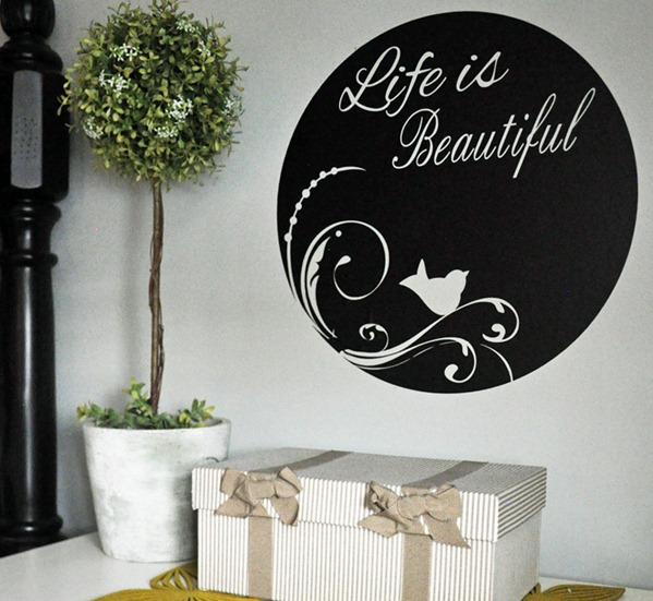 home-accent-vinyl-life-is-beautiful-circle