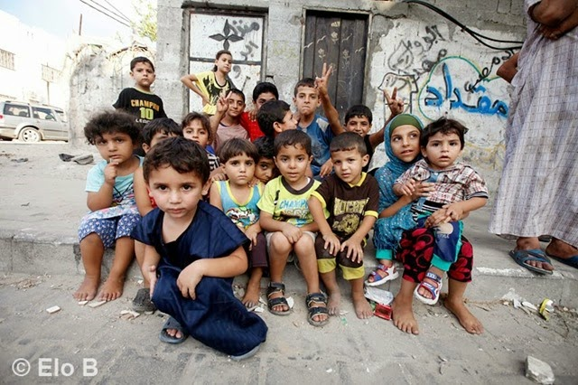 homeless gaza children