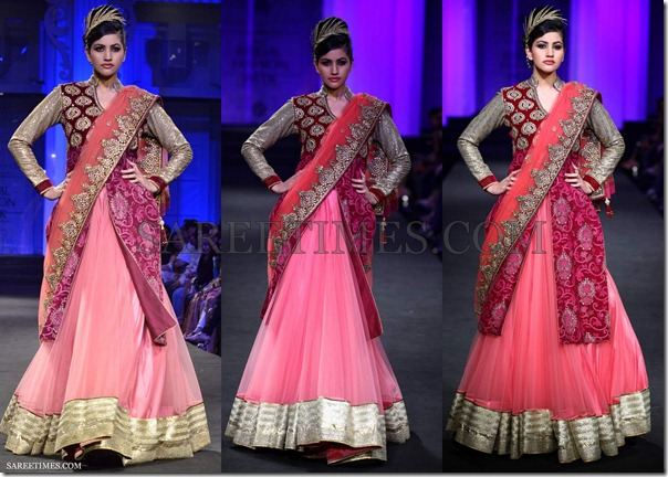 Vikram_Phadnis_Pink_Maroon_Lehenga