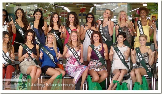 Miss Earth 2011 Delegates at SM Hypermarket