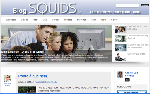 blog Squids - o seu blog social