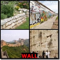 WALL- 4 Pics 1 Word Answers 3 Letters