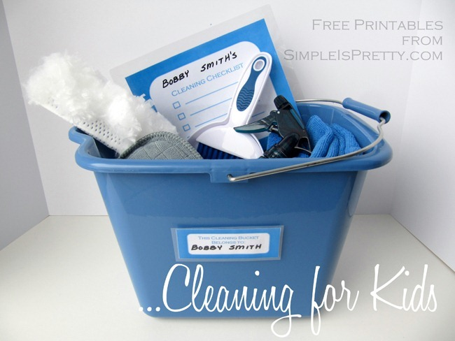 Cleaning for Kids Bucket Full