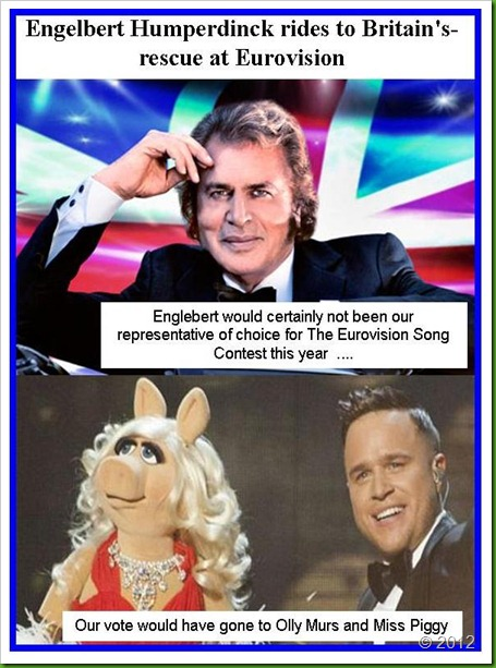 Eurovision Song Contest Englebert Humperdink Olly Murs and Miss Piggy