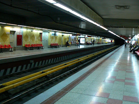 The modern Chinese-made Teheran metro