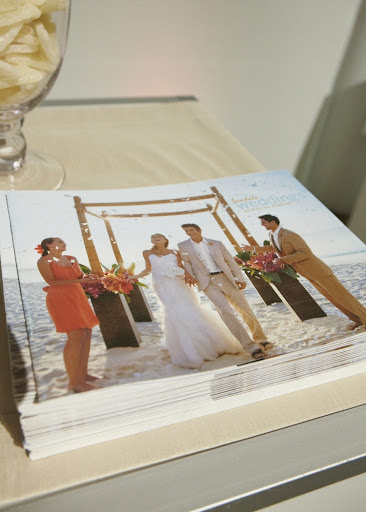 Our Sandals catalog, which lists all of the different wedding packages by Martha Stewart Weddings.