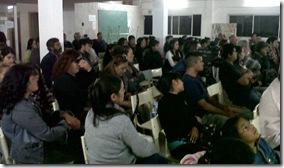 La charla se desarrolló en el Instituto Superior de Formación Docente N° 186 de Santa Teresita
