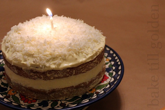 Coconut Banana Ginger Birthday Cake - BTG-008
