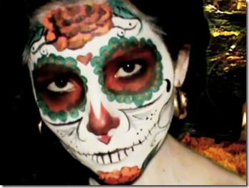 Maquillaje de calavera de az car d a de los muertos - Maquillage dia de los muertos ...