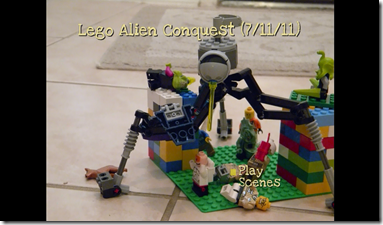 Lego DVD Menu Screen