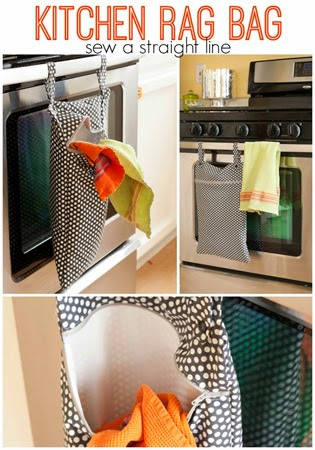 kitchen rag bag sew a straight line