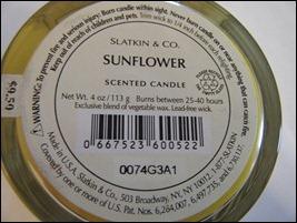 Yankee Candle Sunflower