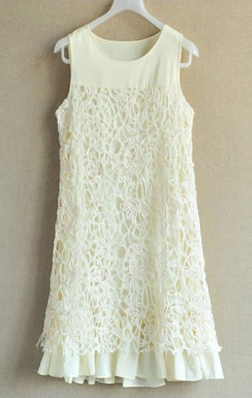 contrast-lace-and-drawstring-panel-sleeveless-dress