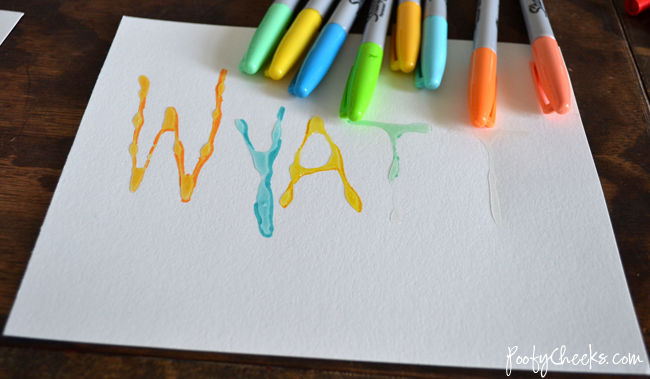 Glossy Marker Art -- Kid Craft