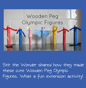 Wooden Peg Olympic Figures Kids Craft