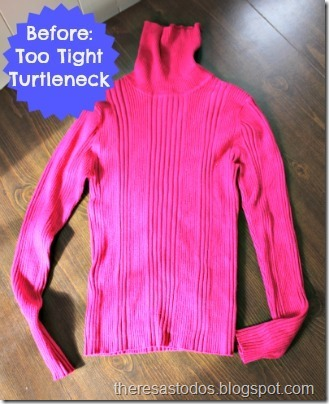 Refashioning a Too Tight Turtleneck
