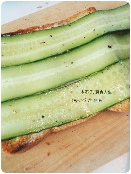 奶油黃瓜烤吐司 (2)