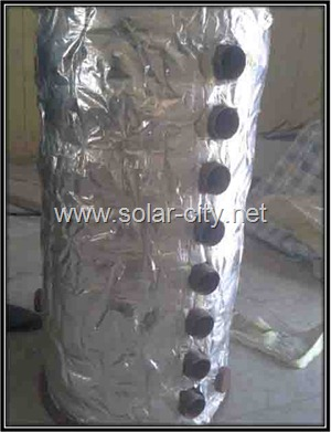 homemade solar water heater - isolation - solar city
