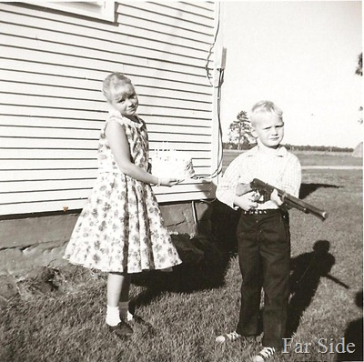 1960 nine years old Connie and Carey six years old