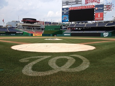 Nats Park View from Behind Home Plate
