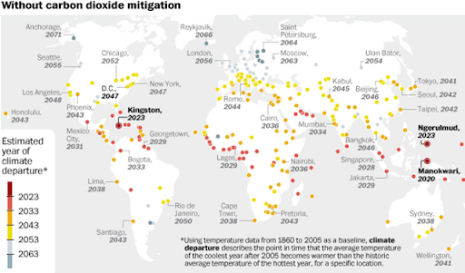 Map These are the cities that climate change will hit first