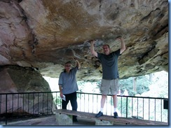 8716 Lookout Mountain, Georgia - Rock City, Rock City Gardens Enchanted Trail - Peter and Bill at Balanced Rock