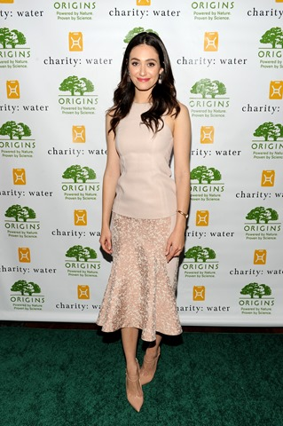 NEW YORK, NY - SEPTEMBER 16:  Actress Emmy Rossum hosts Origins Smartyplants event benefiting chartity: water at JIMMY at the James Hotel on September 16, 2013 in New York City.  (Photo by Bryan Bedder/Getty Images for Origins)