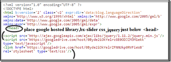 link-google-drive-bxslider-files-in-blogger