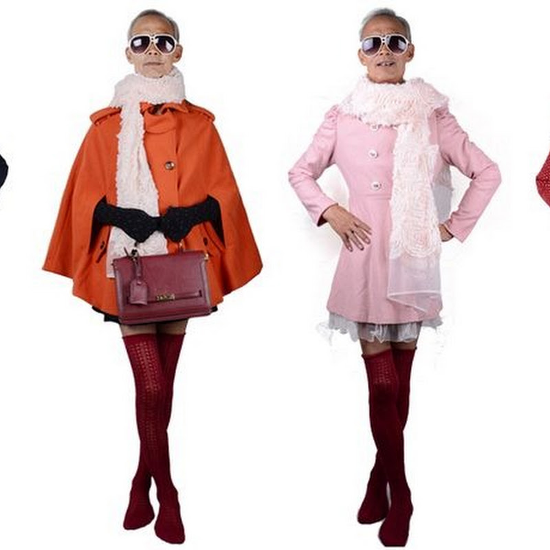 72-year Old Grandpa Models Women's Clothes, Becomes Internet Sensation