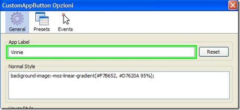 CustomAppButton cambiare nome al pulsante arancione Firefox