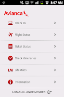 Screenshot of Avianca